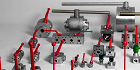 Ball and needle high pressure valves